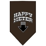Happy Meter Screen Print Bandana Cocoa Large